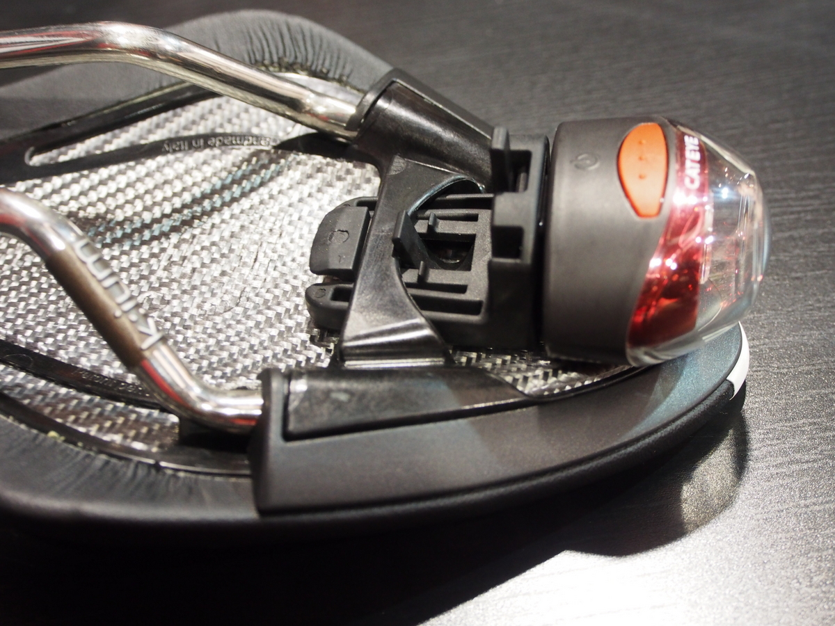 Cateye Tail Lamp compatible with Fizik saddles