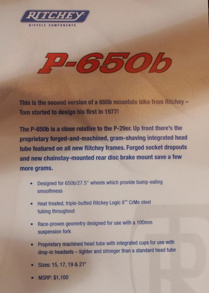 Ritchey P-650b