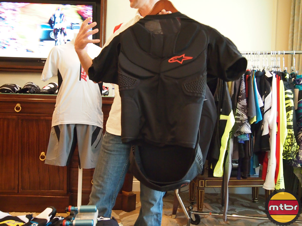 Alpinestars armor with kidney belt and back protector