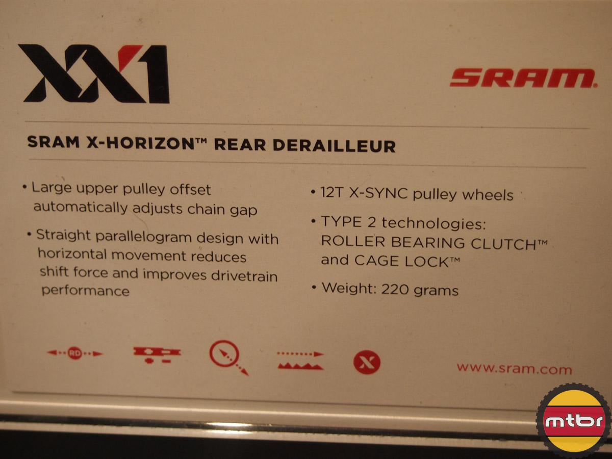 XX1 - X-horizon rear derailleur