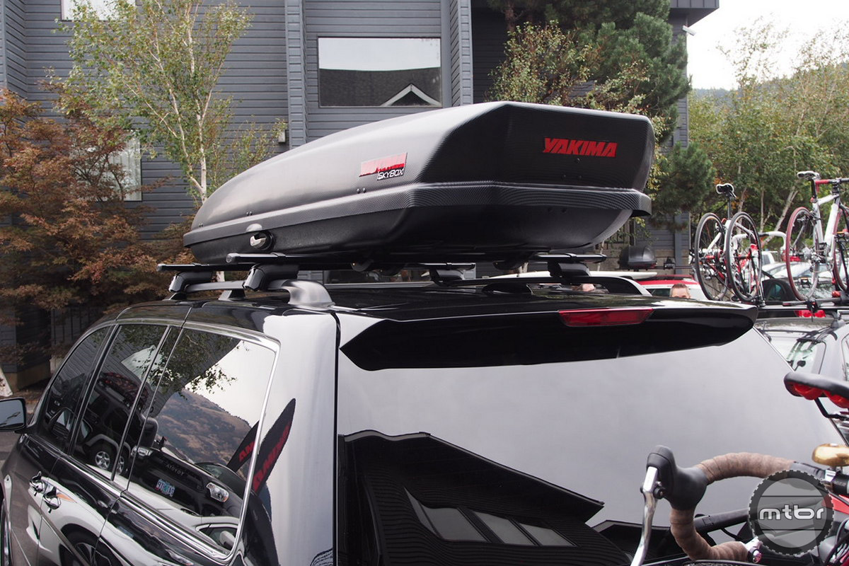 An advantage of the roof rack system is it can host the Yakima Skybox.
