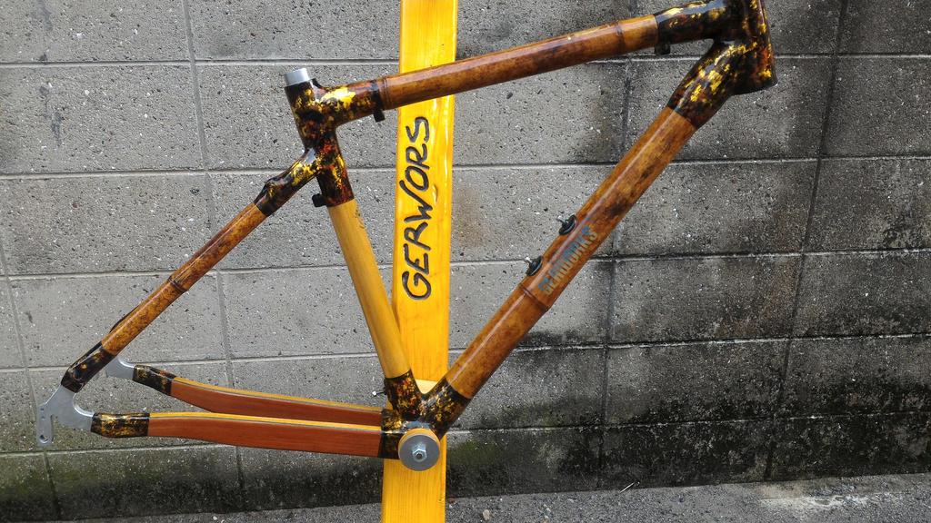 Bamboo, wood, carbon, gold road frame- Mtbr.com