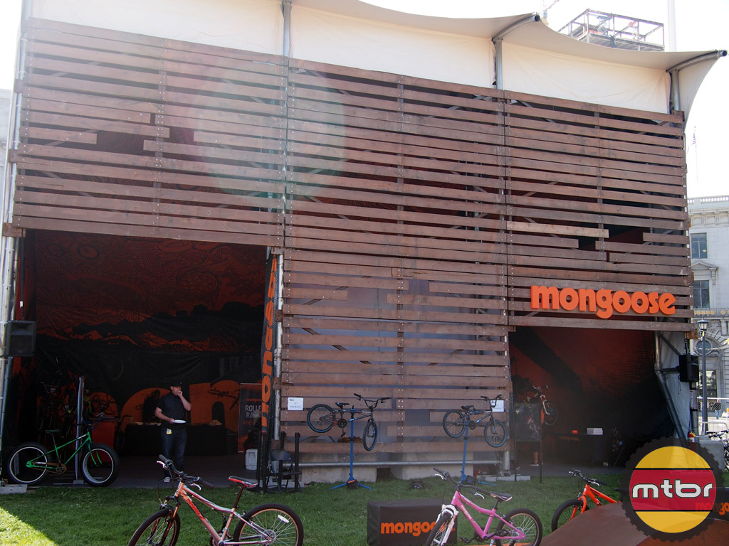 Mongoose's huge booth