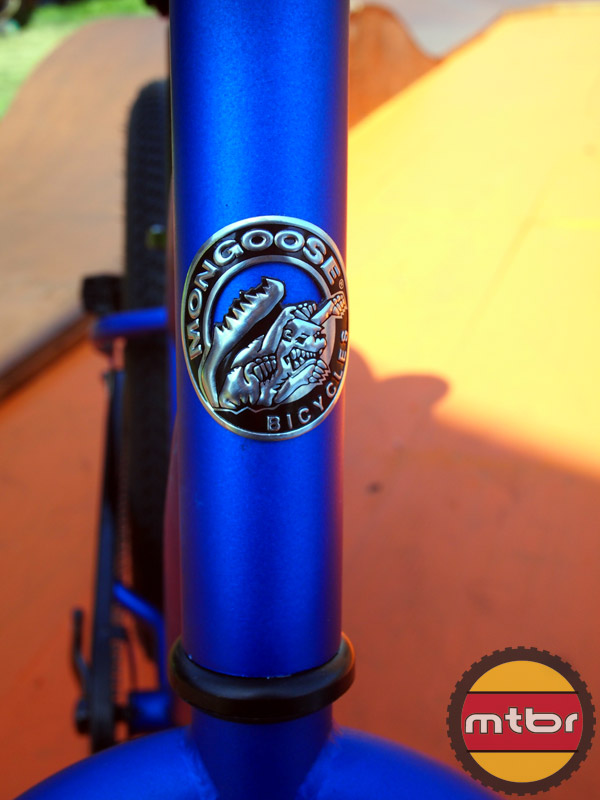 Mongoose Beast fat bike - head badge