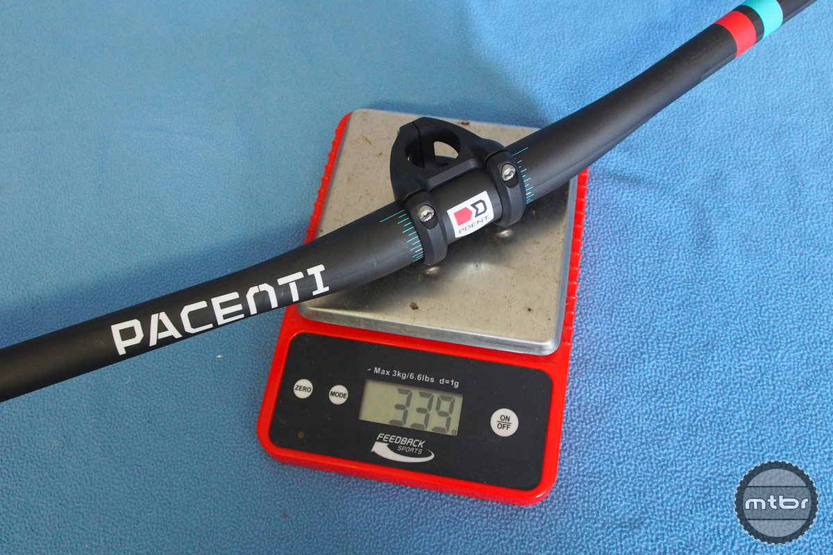 Weight with 800mm bar is 339 grams.