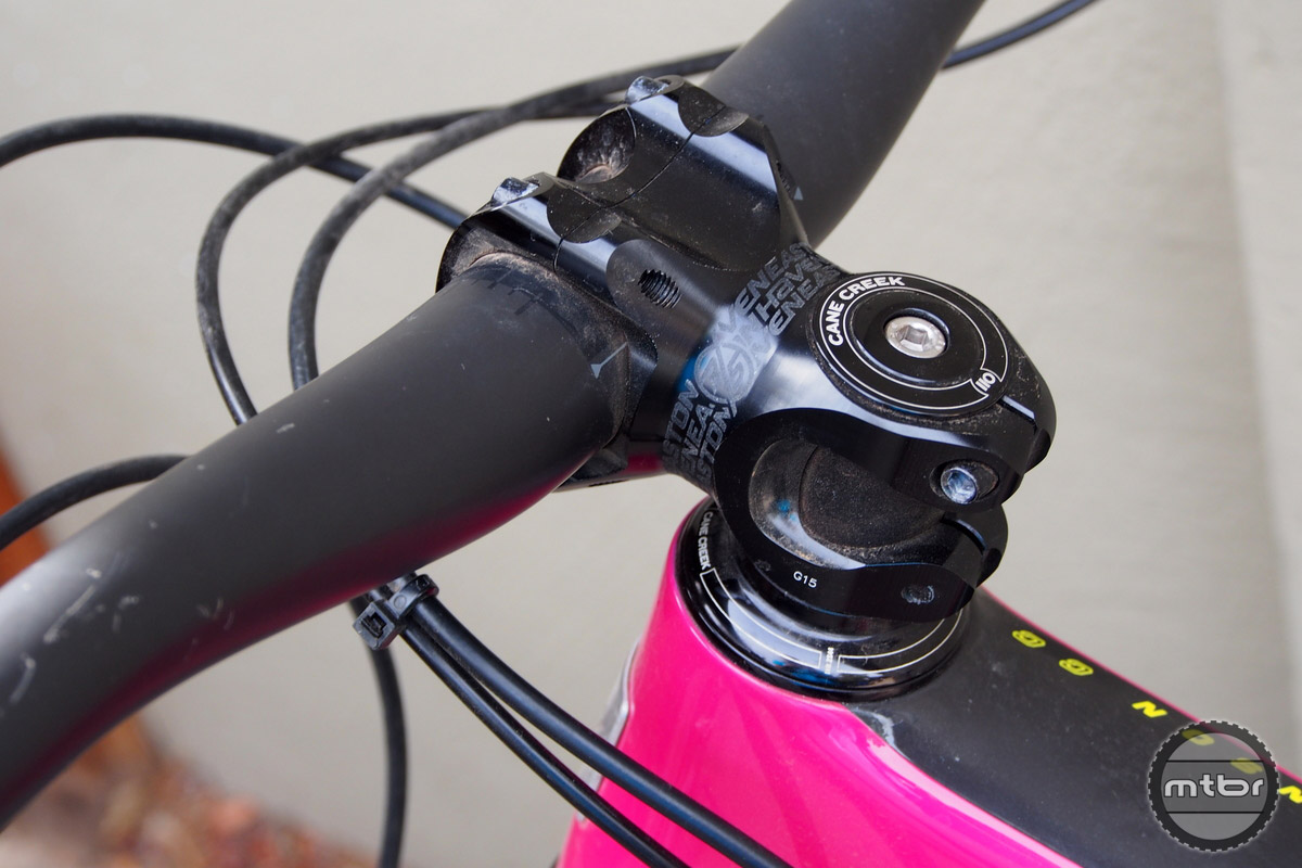 The Bronson comes stock with a 50mm stem.