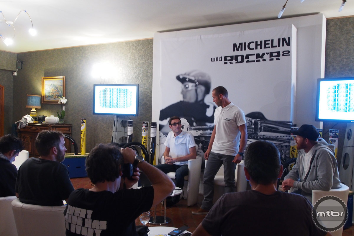 Fabien Barel at Michelin launch