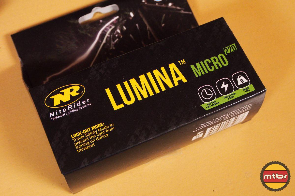 NiteRider Lumina Micro 220 Box