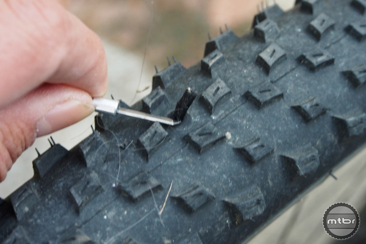 The Dynaplug when installed on the tire can be left by itself or cut for a clean install.