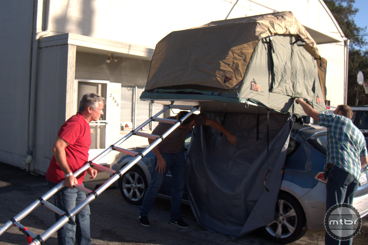 Setting up a Tepui Tent