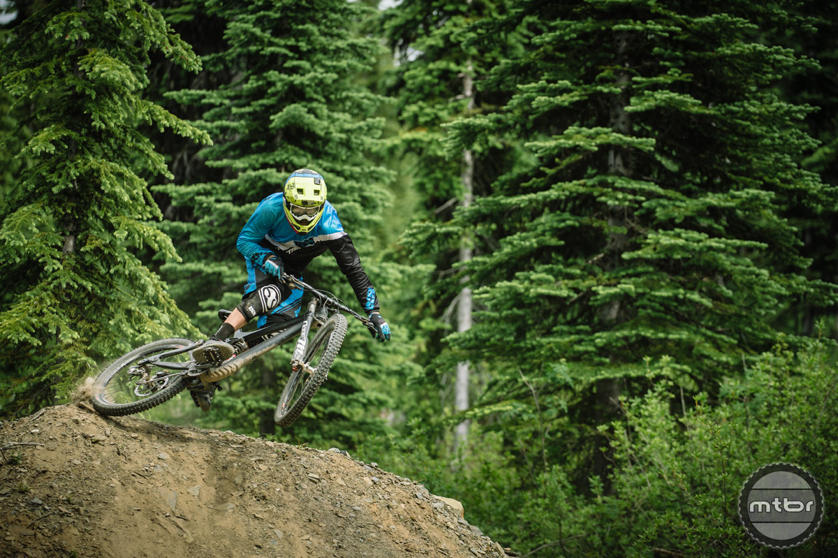 Rider Geoff Gulevich on the Rocky Mountain Maiden in Nelson, British Columbia. Photo by Paris Gore/Geoff Gulevich