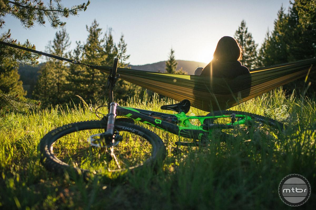 A hammock in Sun Valley Idaho is its own reward. Photo by Paris Gore