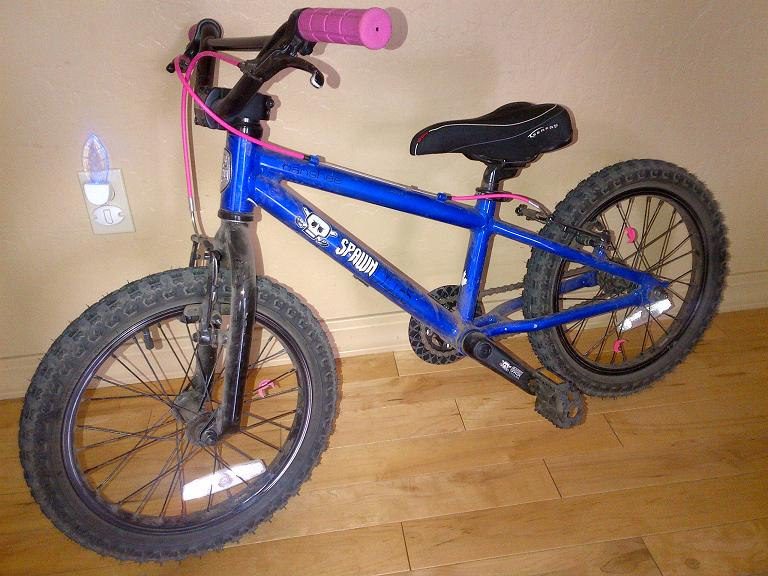 """37025f82a65 Review of the Spawn Cycles Banshee (16"""" wheeled bike)-park-city"""