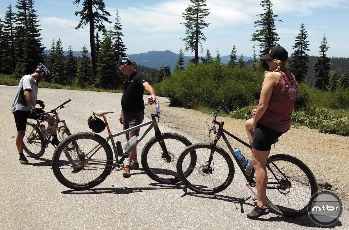Paul and his wife Marley getting ready to drop the Downieville downhill.