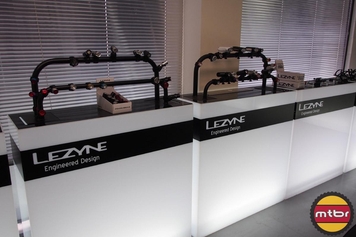 Lezyne booth displays