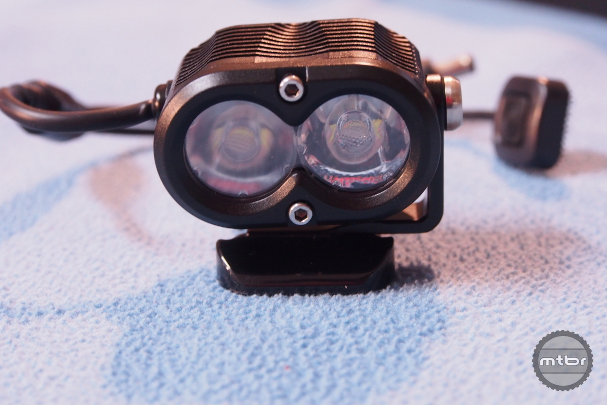 Gloworm X2 lens is replaceable with different angle optics.