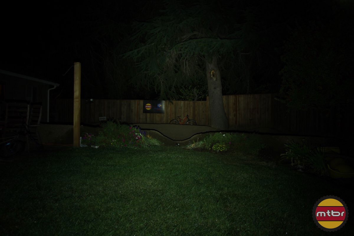 Magicshine Eagle 600 Backyard Beam Pattern