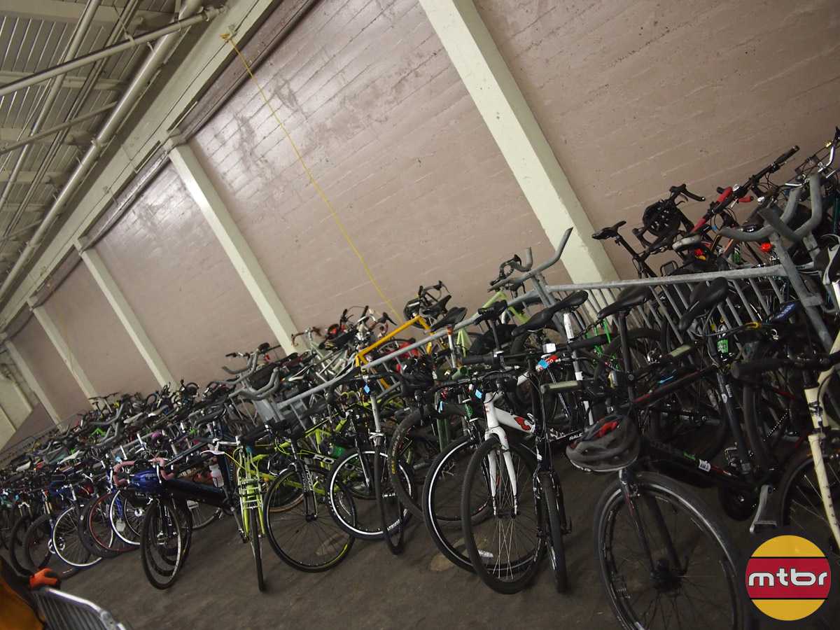 Free bike valet was very popular