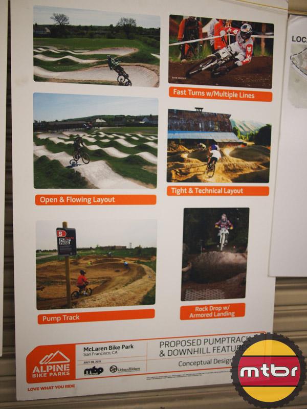 McLaren Bike Park plans