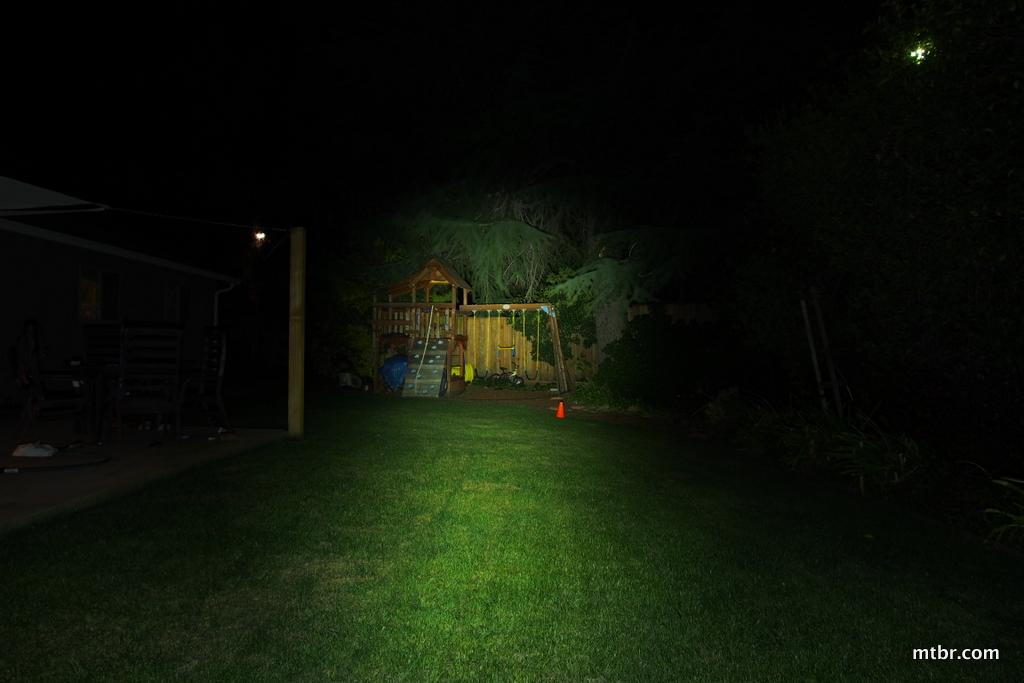 CatEye Nano Shot+ Backyard Beam Pattern