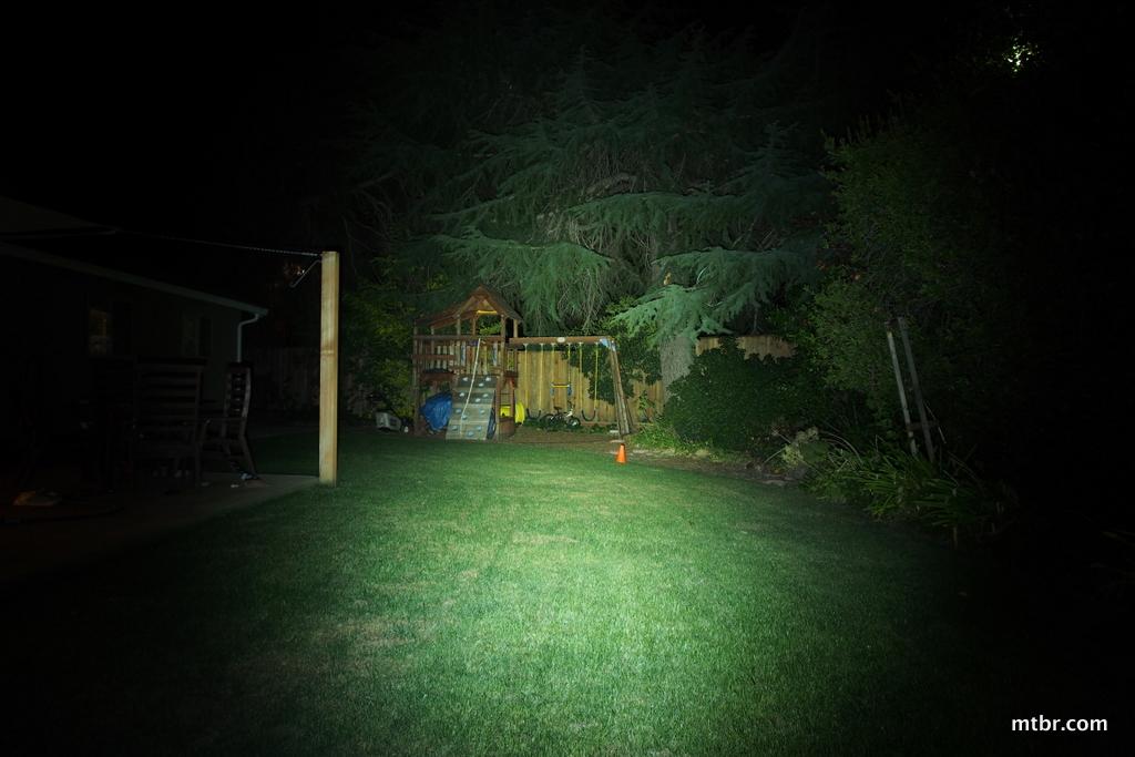 Lupine Piko TL MiniMax Backyard Beam Pattern