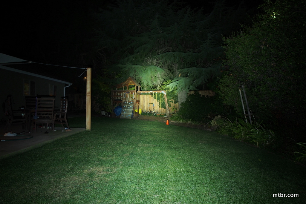 Serfas True 1000 Backyard Beam Pattern