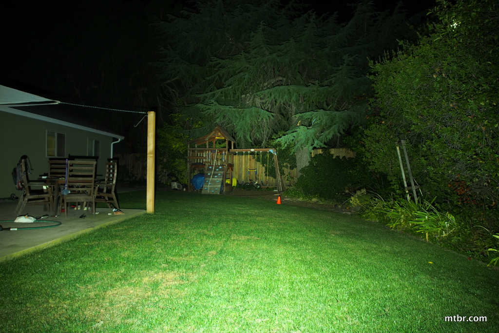 Light & Motion Taz 1200 Backyard Beam Pattern