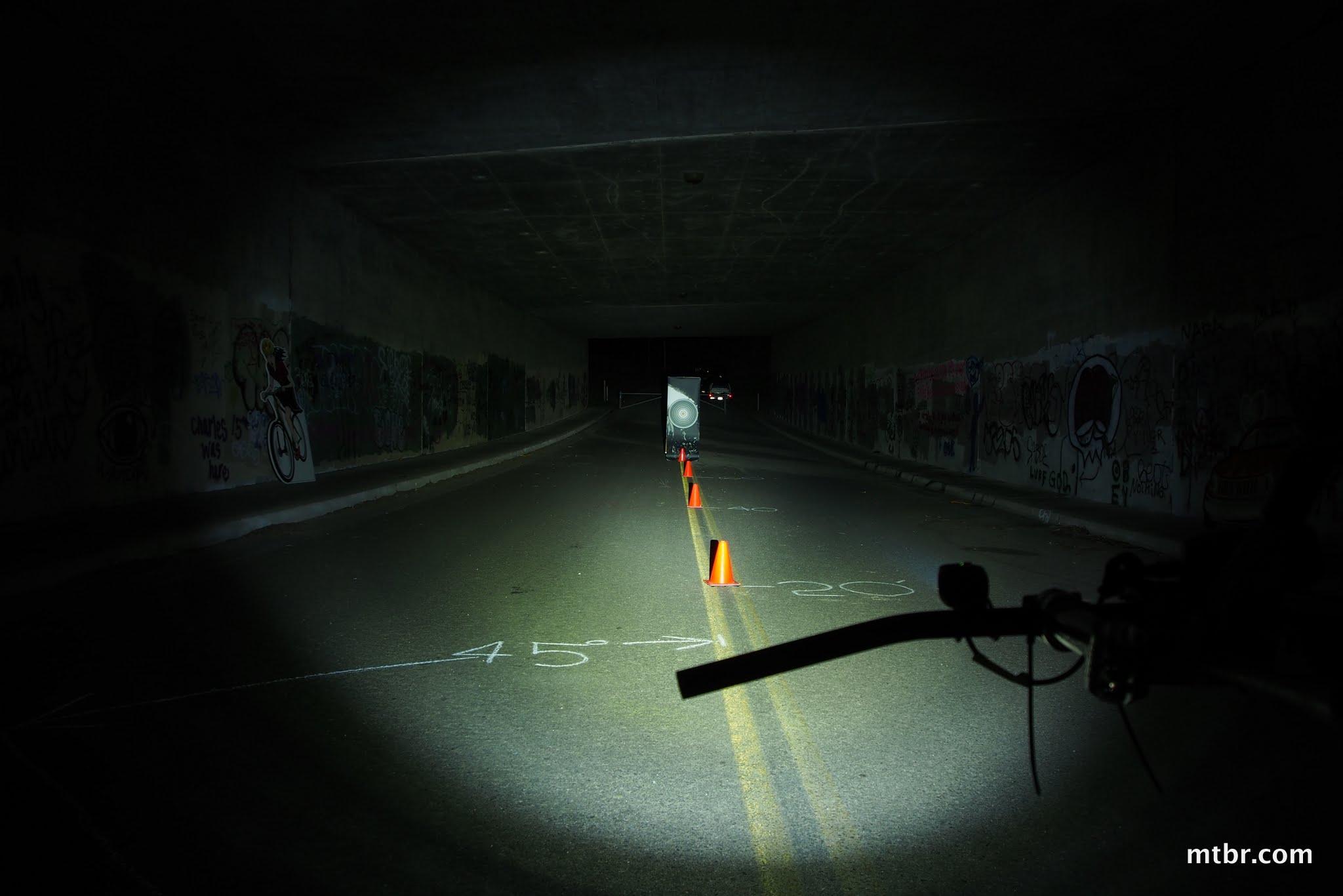 NiteRider MiNewt Pro 750 Tunnel Beam Pattern