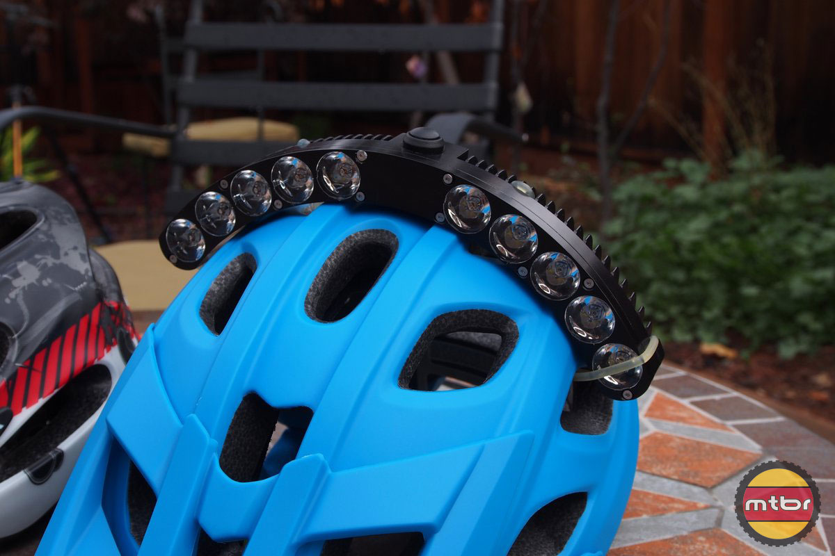 Review Trail Led Halo 6000 Lumen Helmet Light Mtbr Com