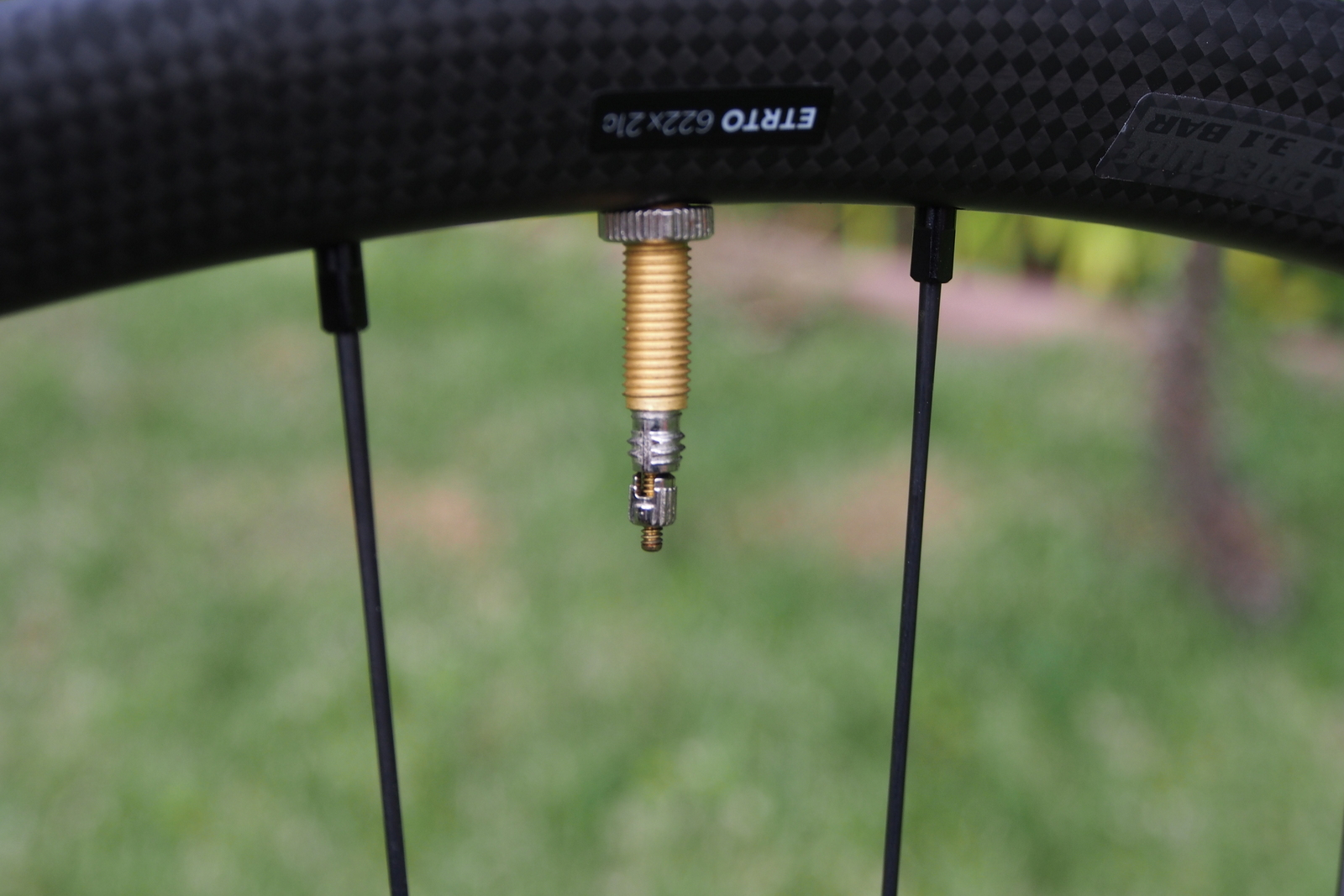 Specialized Control 29 Carbon Wheels tubeless valve with removable core