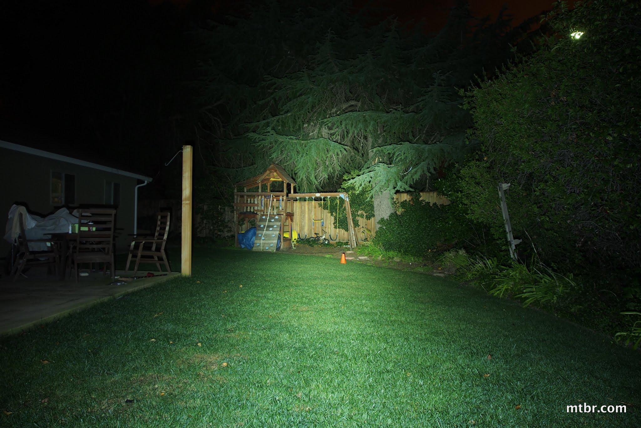 Magicshine MJ-880 U2 Backyard Beam Pattern