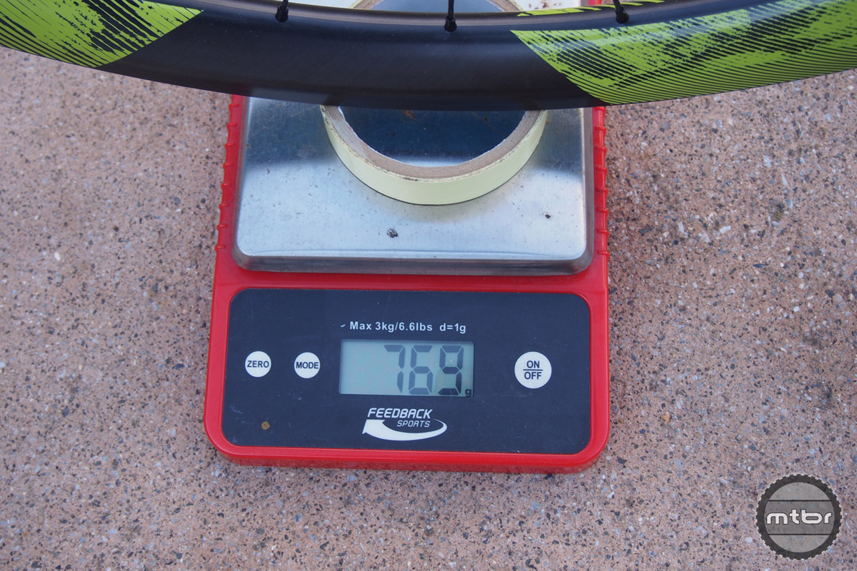 Reynolds 27.5 Enduro comes in at 769 grams with rim tape. Light enough for XC race and strong enough for downhill World Cup.