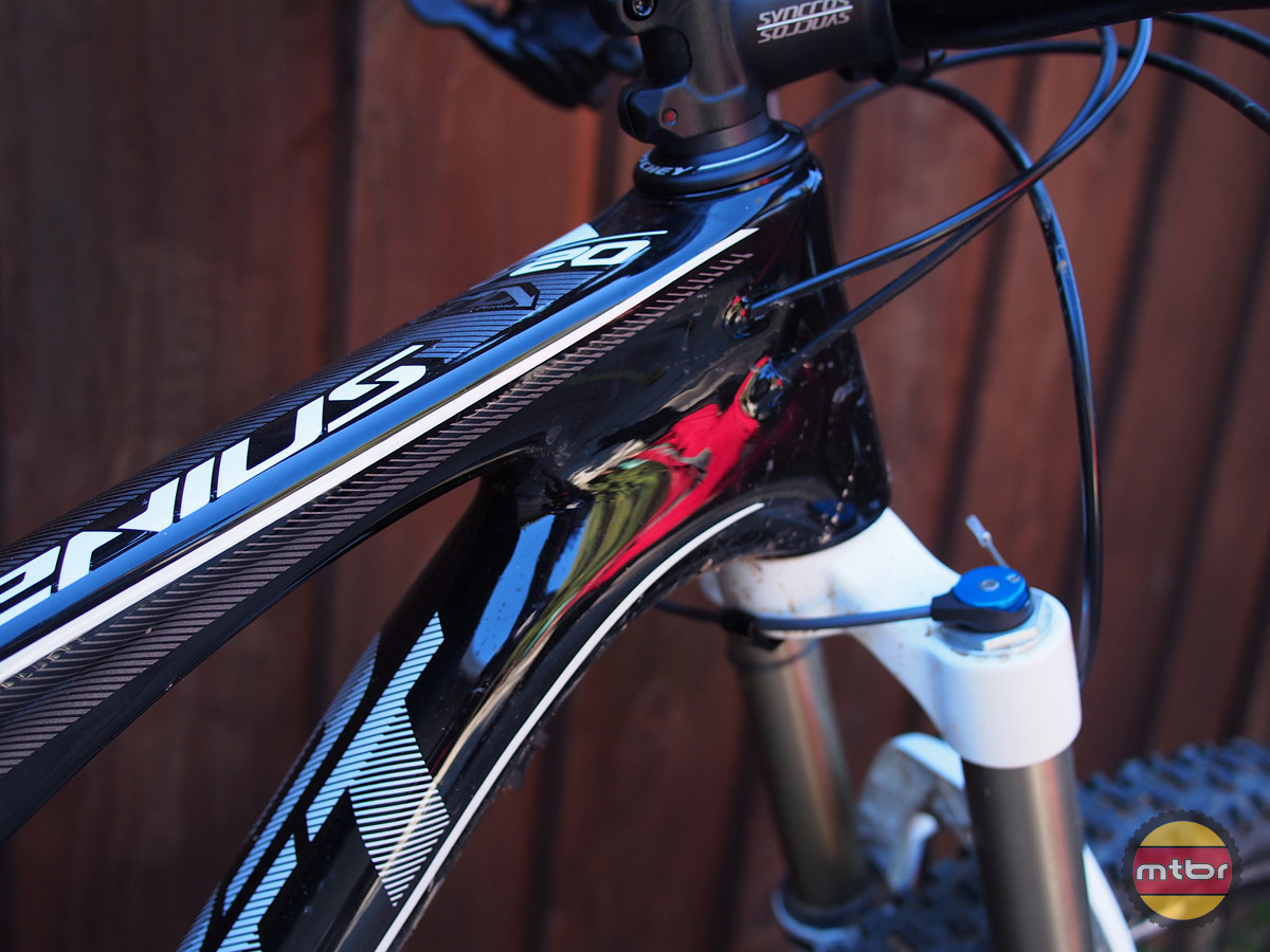 Scott Genius 720 - internal cable routing