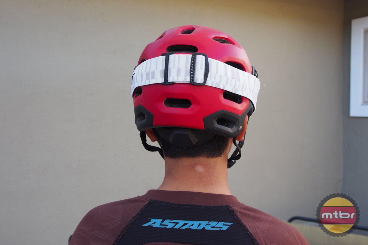 Bell Super with Goggles Rear View