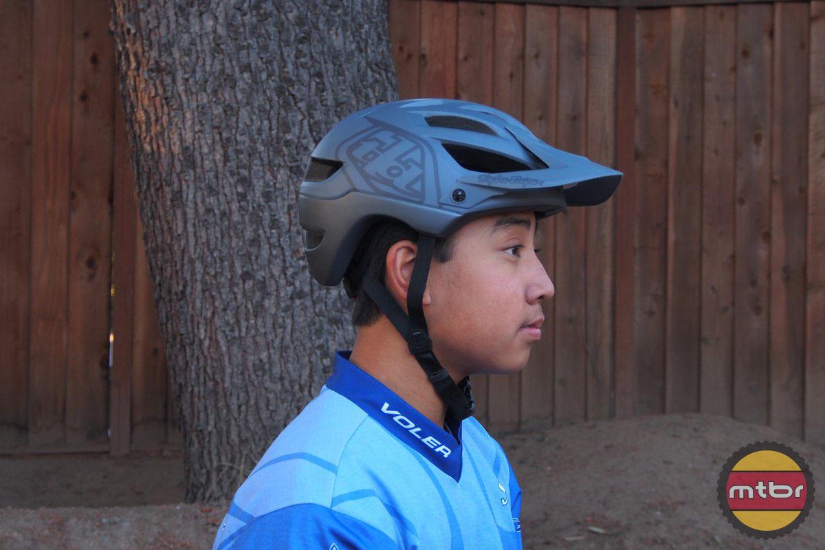 Troy Lee Designs A1 Drone MTB Bike Helmet Grey//Black