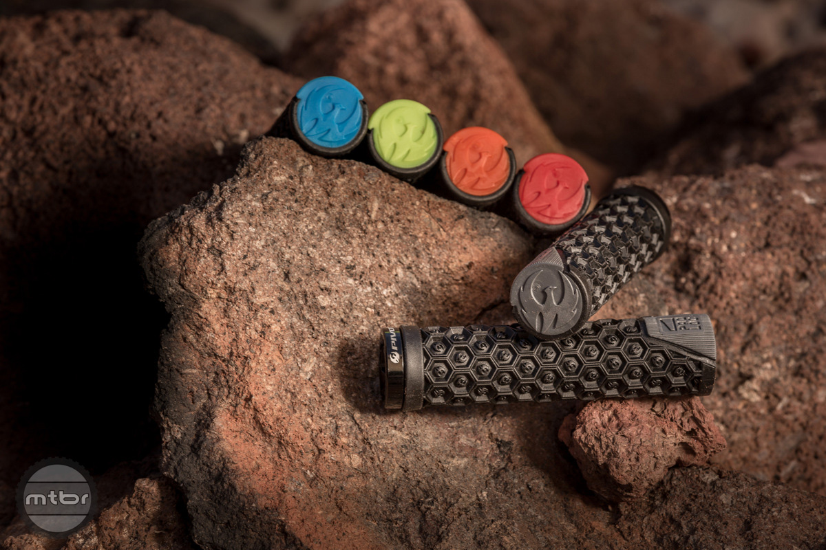 Pivot pad-loc grips feature soft durometer ends and an assortment of color
