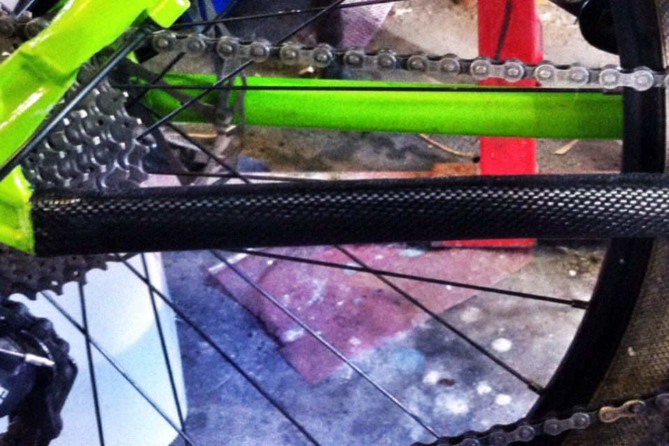 Vinyl Protection for Chainstay bicycle frame