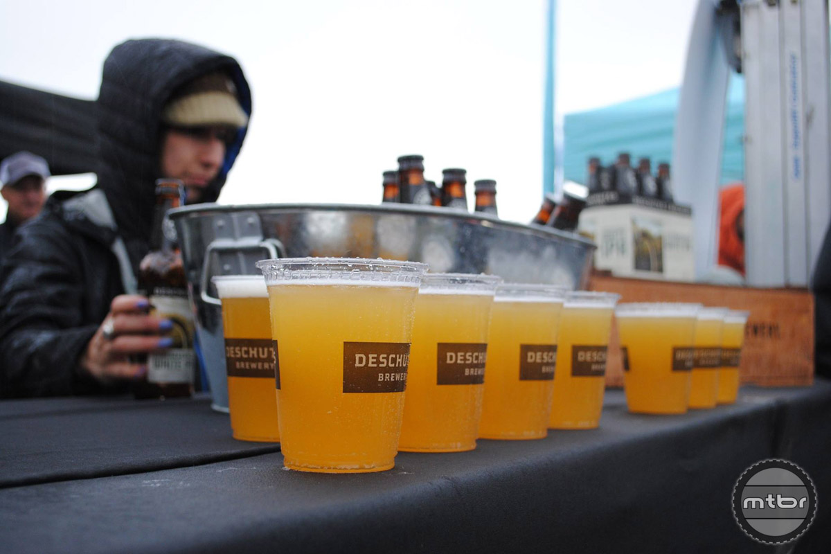 Deschutes Brewery supplied the finish line brew.