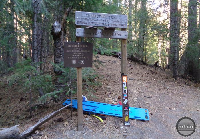 3rd Divide / Big Boulder Trail Sign