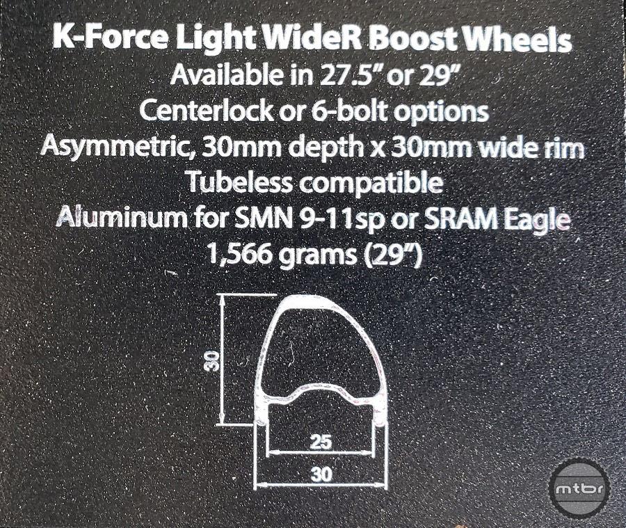 K-Force Light WideR 25 Wheel Specs