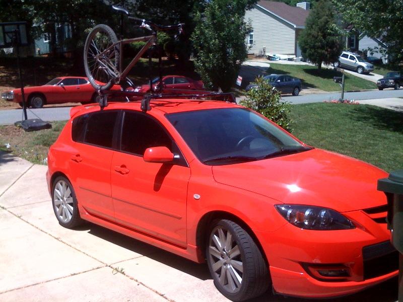 Mazdaspeed3 Yakima High Roller Installed Mtbrcom. SaveEnlarge · Convertible Bike  Rack Mazda ...