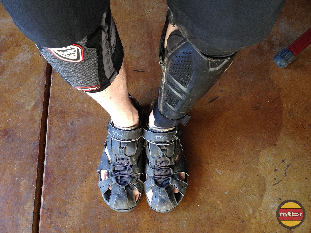Troy Lee Designs KG 5450 Knee Guards Shin Coverage Comparison