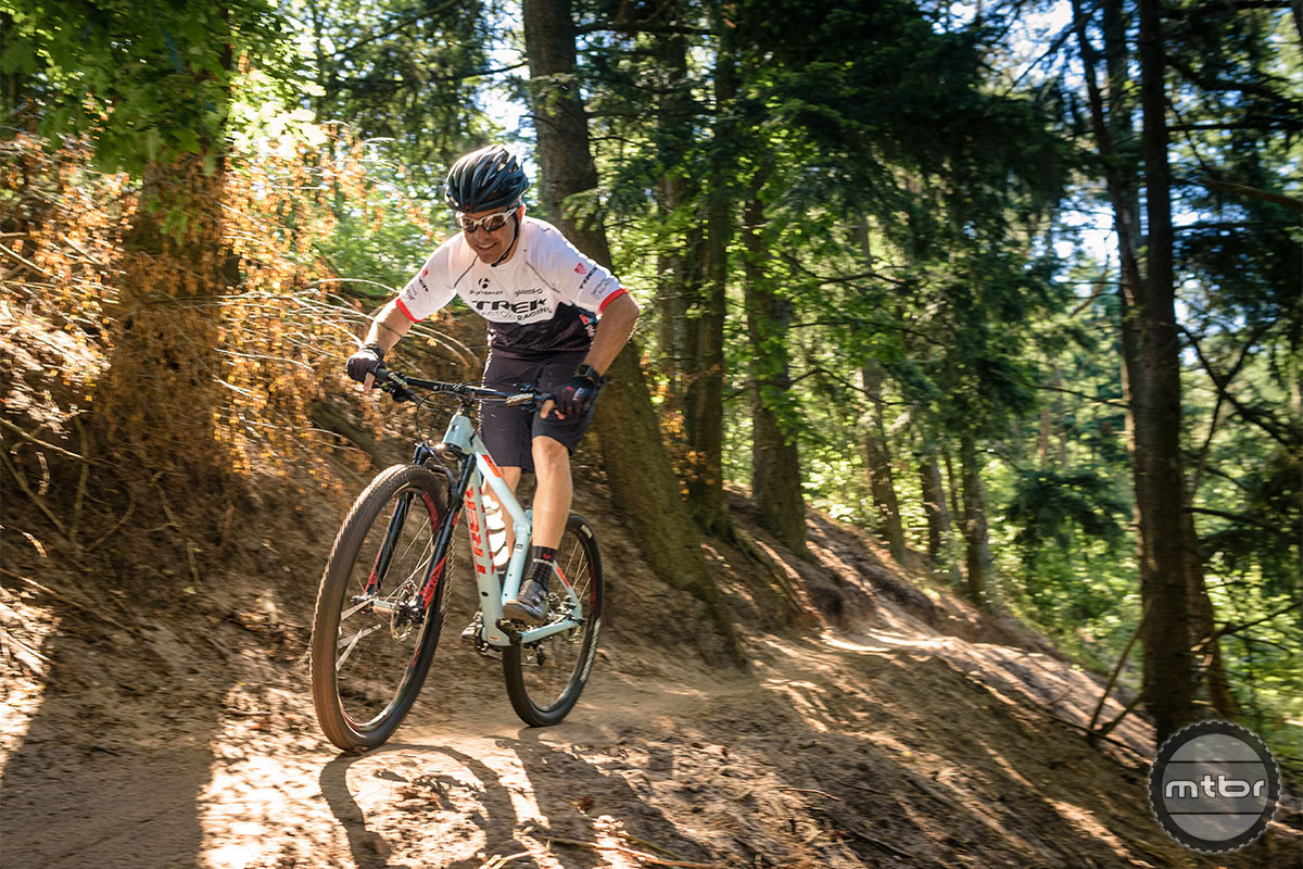 Product manager John Riley rips the trails on the new Procaliber. Photo by Jeroen Tiggelman