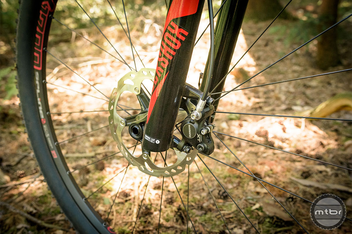 Trek Procaliber 9.8 SL Shimano Deore XT front brake with 160 mm disc. Photo by Jeroen Tiggelman