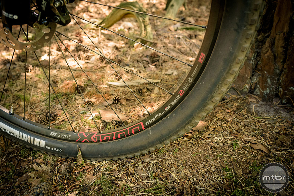Trek Top Fuel 9.8 SL Bontrager XR1 Team Issue 29 x 2.2 tires take care of the ground contact.  Photo by Jeroen Tiggelman