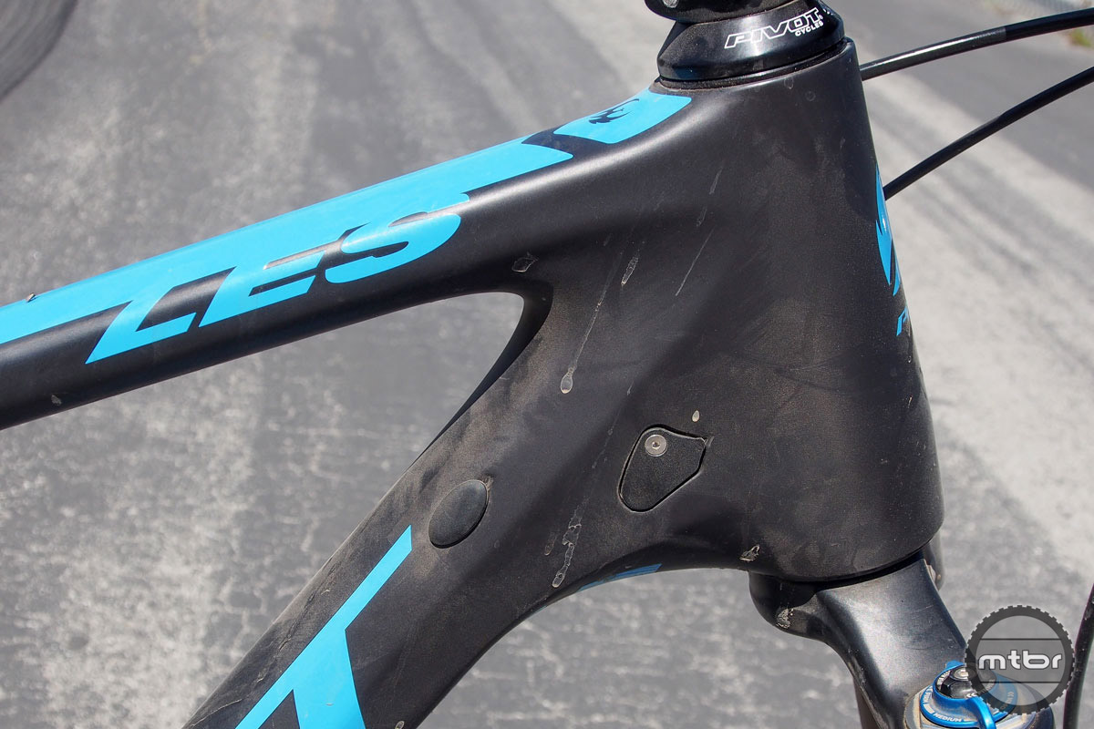 The revised frame has ports for just about any set-up, including Shimano Di2.