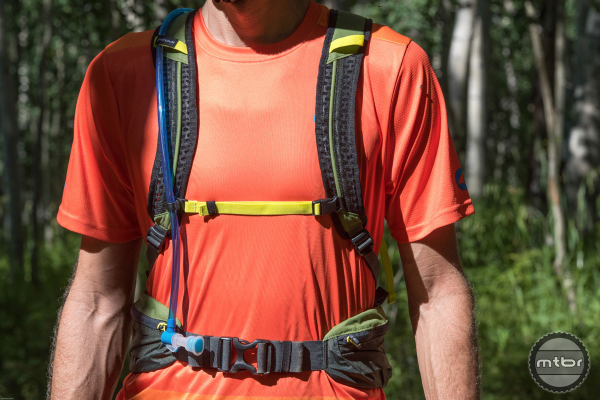 Fit is dialed in via a pair of adjustable shoulder straps, a sternum strap, and oversized waist belt.