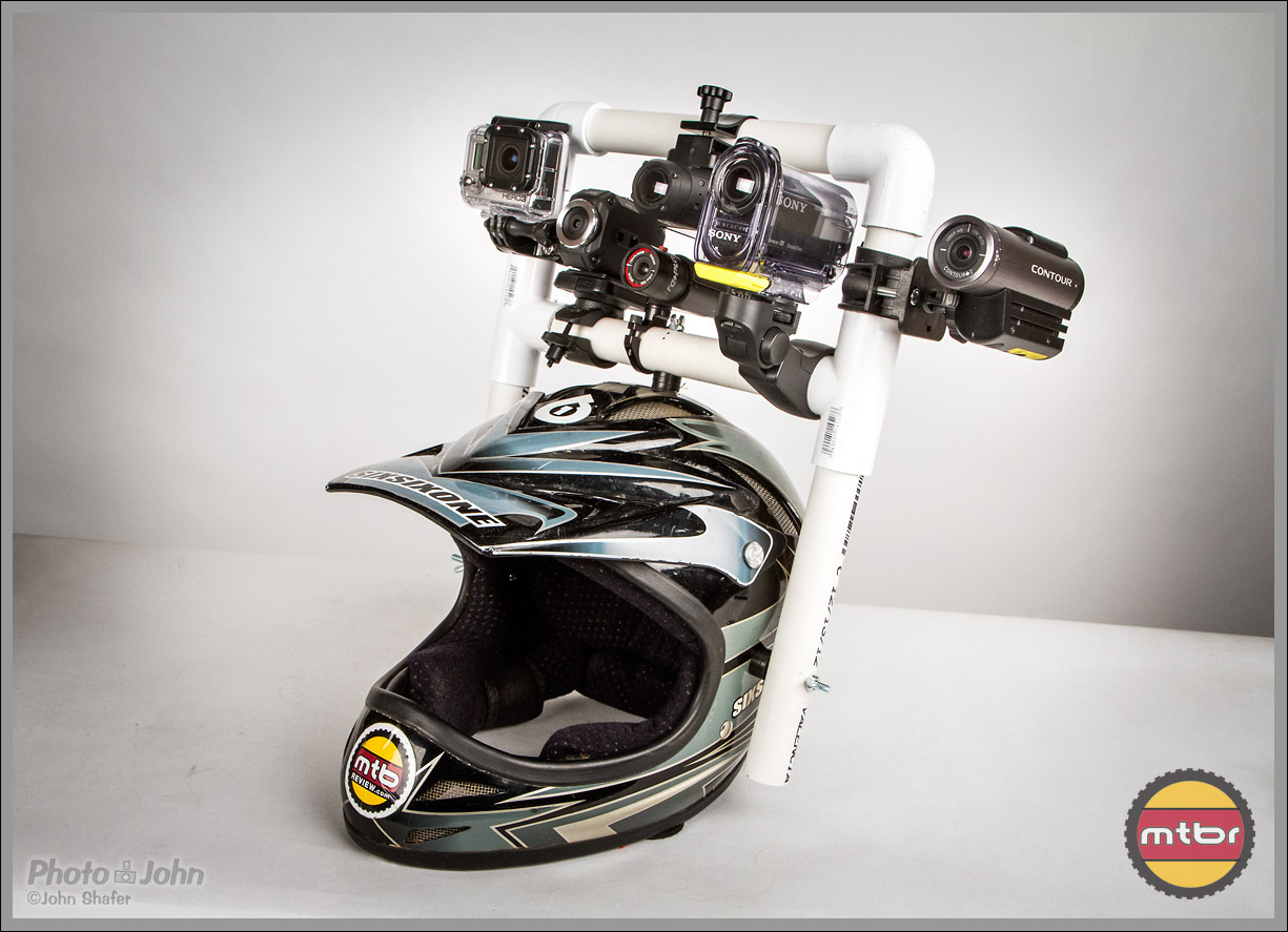 POV-helmet test setup