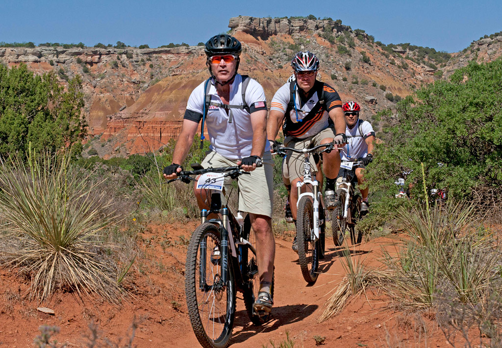Pres Bush and riders on capitol peak trail 1, rvsd