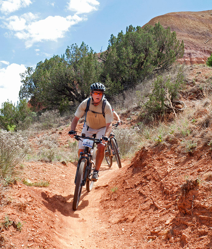 Pres Bush on Palo Duro bike trail, rvsd